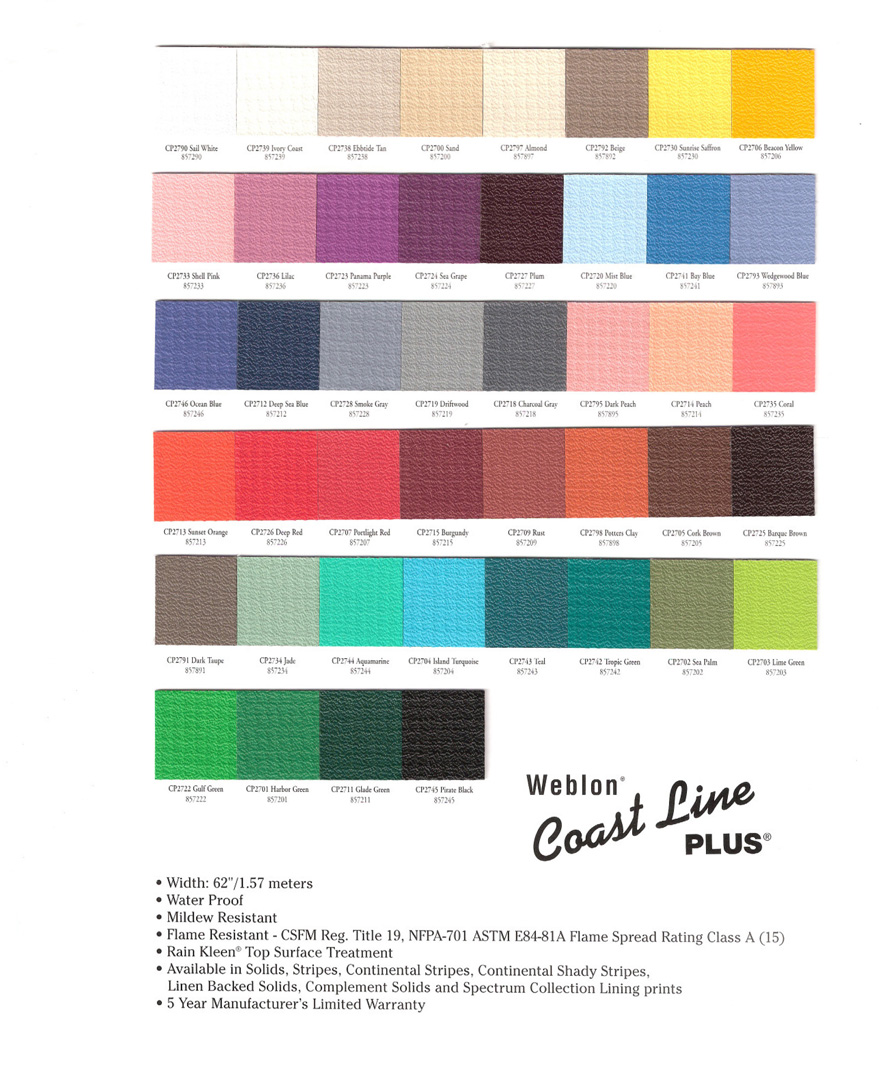 Weblon Coastline Plus Lanier Aluminum Products