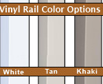 vinyl rail colors
