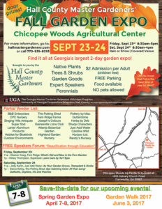 Hall County master gardener fall expo 2016 flyer